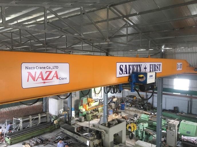 Cầu trục 10 tấn lắp đặt tại Hưng Yên , cầu trục 10 tấn dầm đơn 2 tốc độ